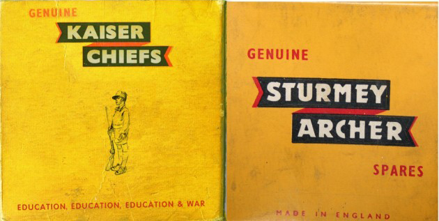 Sturmey-Archer Kaiser Chiefs Education, Education, Education & War плагиат